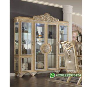 Lemari Pajangan Mewah 4 Pintu Casabella Klasik