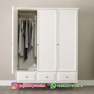 Lemari Pakaian Minimalis Altha 3 Pintu