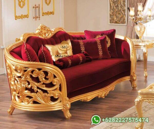 Set Sofa Tamu Mewah Victorian Klasik Monique