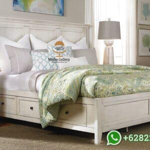 Tempat Tidur Minimalis Putih Duco