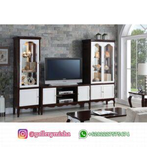 Bufet TV Jati Minimalis Ruang Tamu