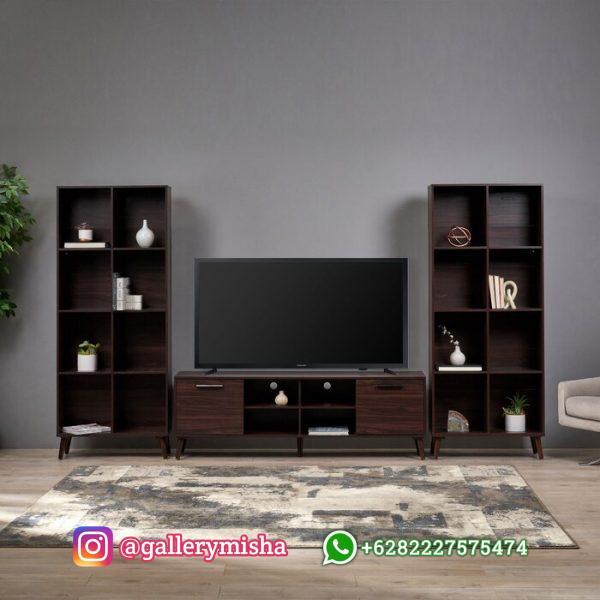 Bufet TV Kayu Minimalis Naida