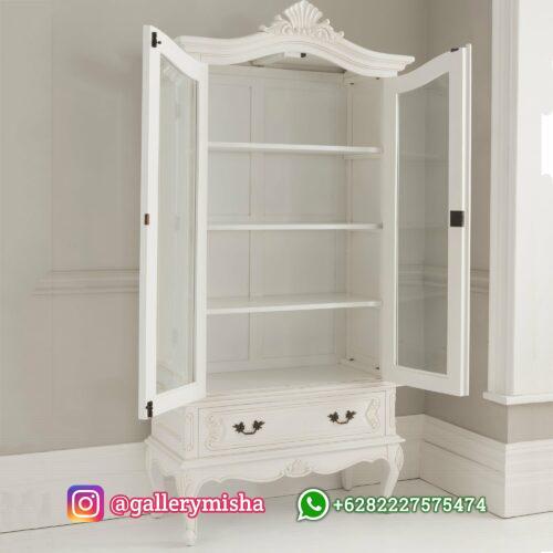 Lemari Hias Ruang Tamu Putih Mewah