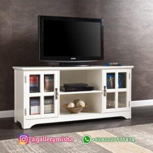 Meja TV Cat Putih Duco Minimalis