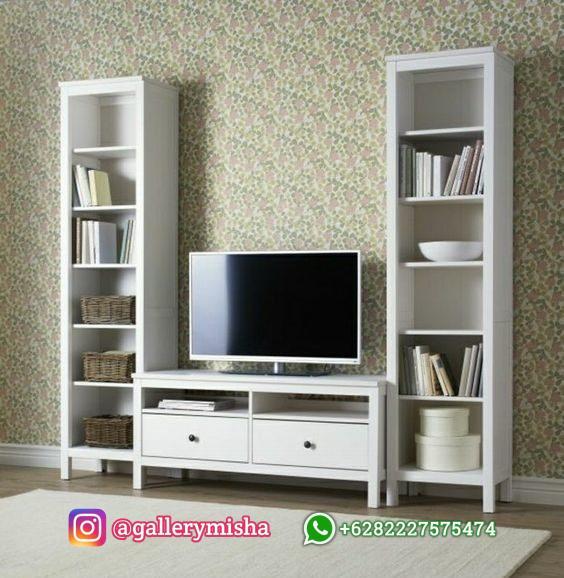 Set Meja TV Minimalis Putih Clara