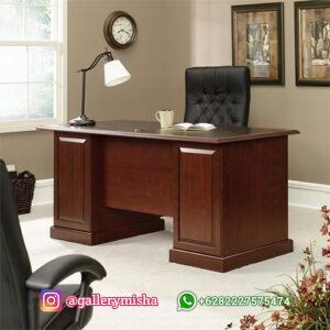Meja Kantor Minimalis Kayu Jati
