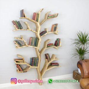 Rak Buku Unik Model Pohon