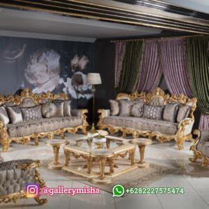 Set Sofa Tamu Mewah Baroque