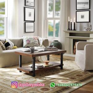 Coffe Table Kayu Jati Minimalis