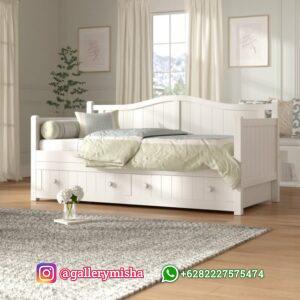 Daybed Putih Duco 2 Laci