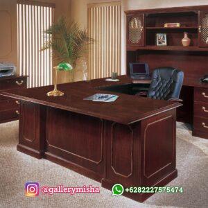 Meja Kantor Direktur Kayu Jati