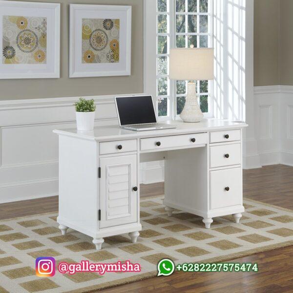 Meja Kantor Minimalis Putih Duco
