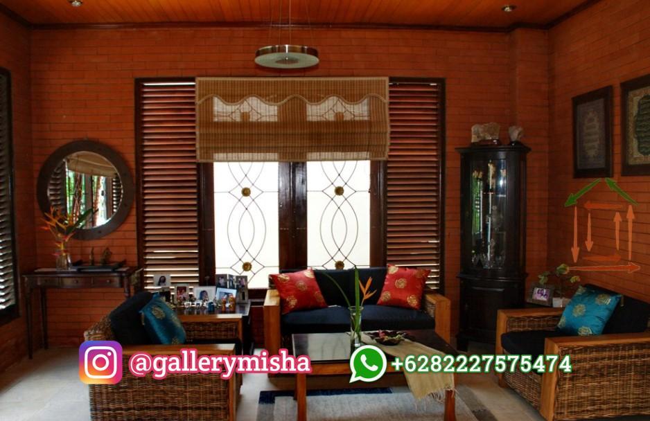 Desain Interior Ruang Tamu Etnik Jawa