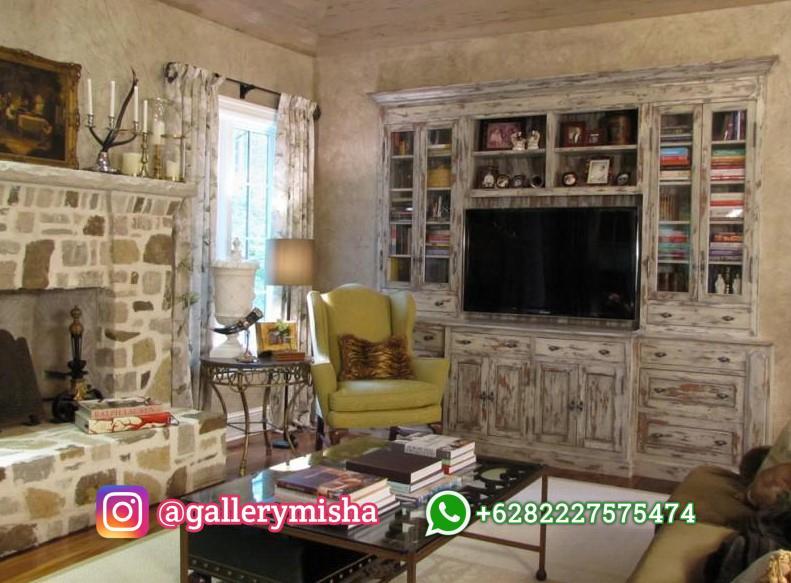 Desain Interior Ruang Tamu Rustic
