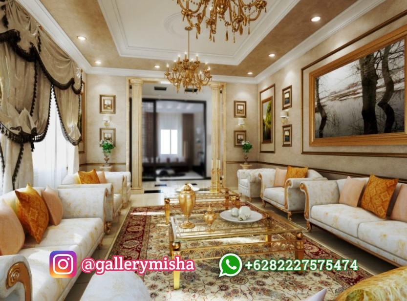 Desain Interior Ruangan Tamu Klasik