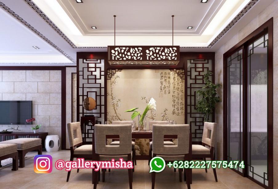 Desain Interior Ruang Tamu Oriental