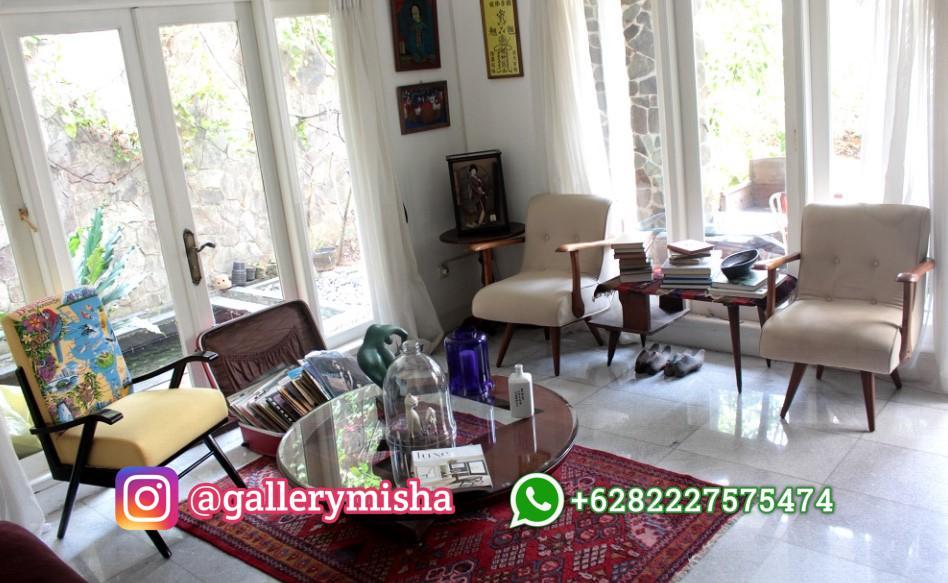 Desain Interior Ruang Tamu Vintage