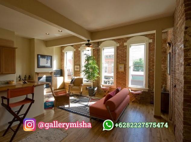 Desain Interior Ruang Tamu Natural