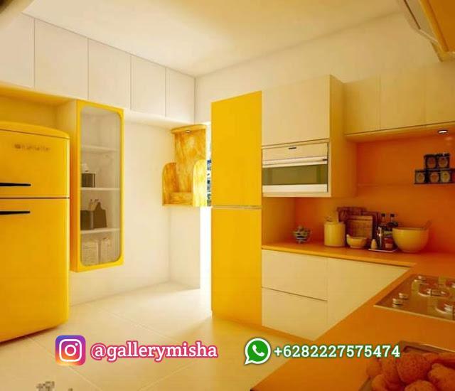 Dapur simpel bersama corak kontras