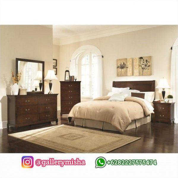 Set Ranjang Tidur Kayu Jati