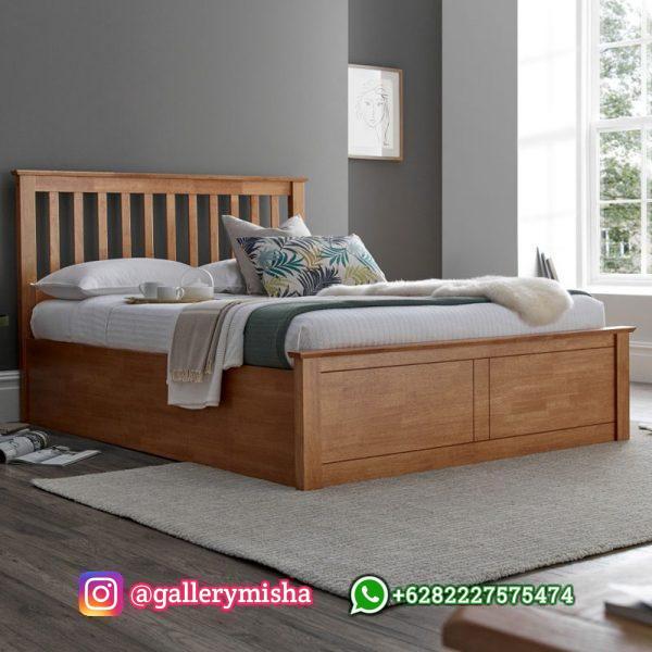 Tempat Tidur Minimalis Kayu Jati Terbaru