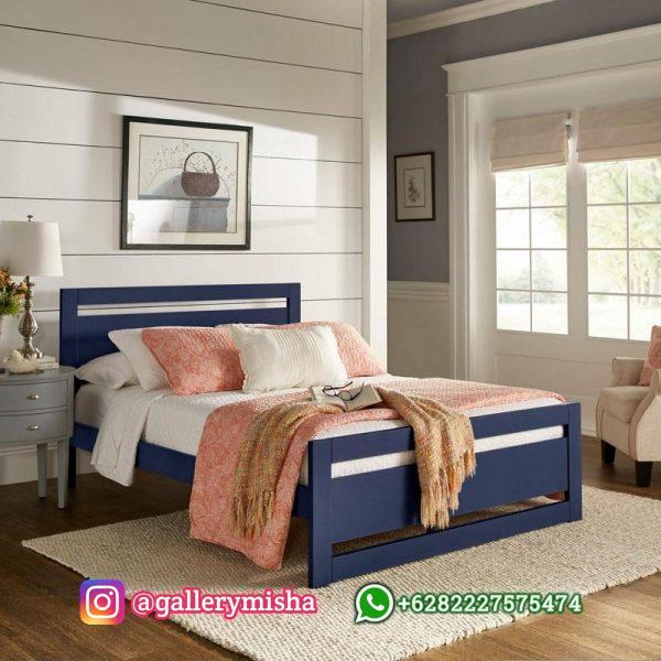 Tempat Tidur Minimalis Terbaru Dari Kayu In White