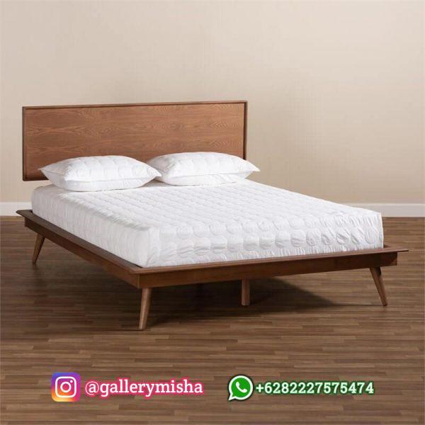 Tempat Tidur Retro Minimalis Terbaru Dari Kayu Jati