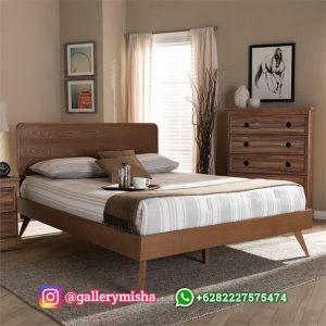 Tempat Tidur Retro Terbaru Desain Minimalis Jati