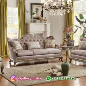 Sofa Tamu Modern Ukiran Mewah Jepara